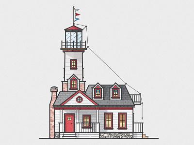 Lighthouses vector illustration architecture lighthouse coastal brick wood