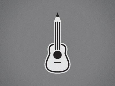 Guitpencil logo guitar pencil