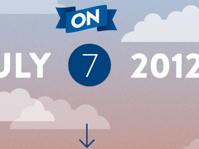 Save The Date - Clouds blue sky ribbon clouds brandon grotesque