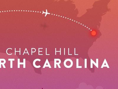 Save The Date - Jet plane airplane shadow travel map pink orange