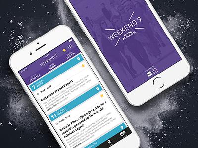 Weekend Media Festival 9 app android iphone sevenofnine ui ux app mobile app ios app festival app weekend media festival