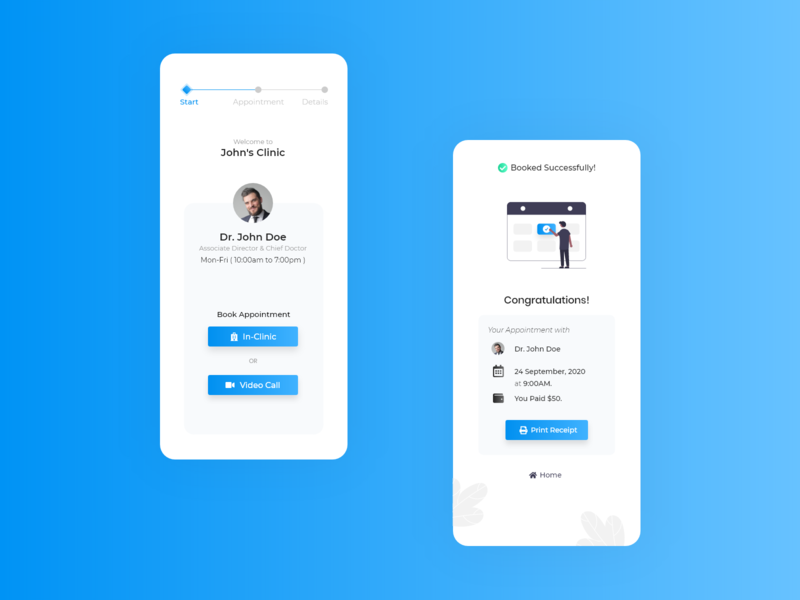 Doctor Appointment Booking quick booking doctor appointment booking system booking app app ui design appointment booking app design