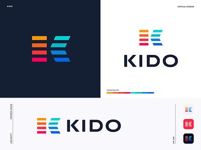 Kido - Logo Design. best dribbble shot best logo designer in dribbble best logo vector modern logo illustration typography logomark logo graphic design brandmark brand design designer brand identity best design