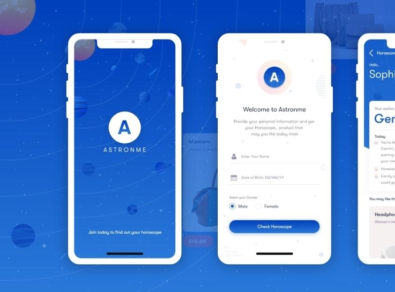 Astronme ios ios app design android app design android branding design uxui uxdesign ux uiux uidesign ui app