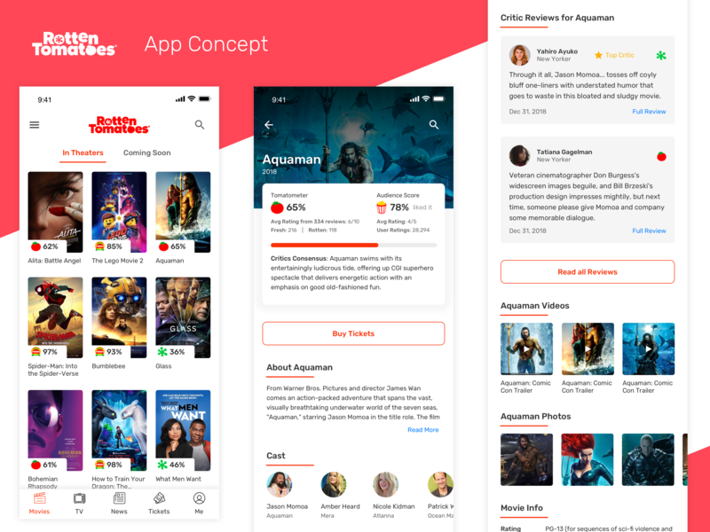 Rotten Tomatoes App Concept movie app review concept movie rotten tomatoes