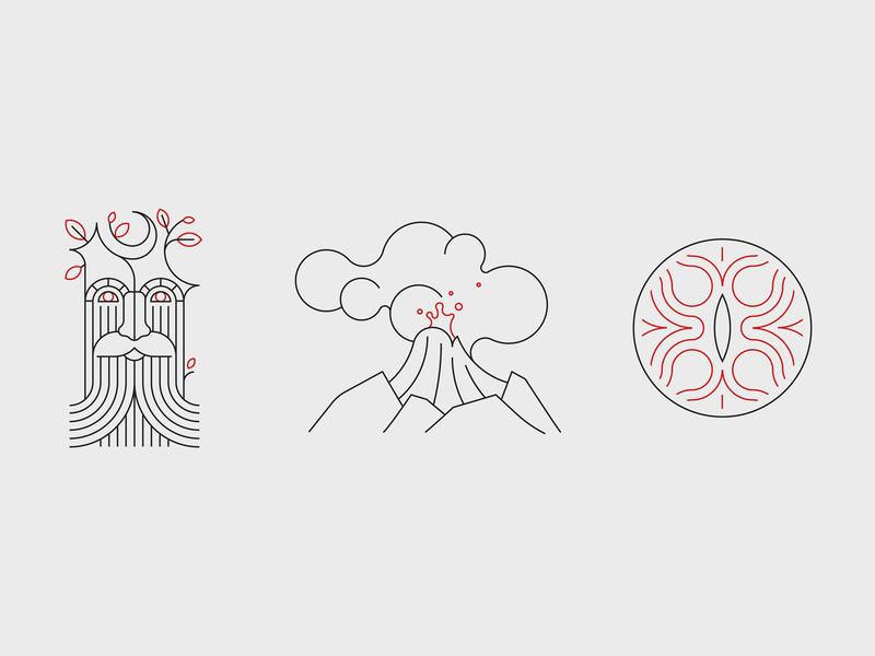 Tesla (Middle) Earth Day Illustrations palantir ent social media tesla lotr line drawing vector illustration