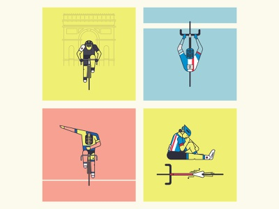 Tour de France 2014 Sketches bikes cycling tour de france letour tdf line drawing vector illustration