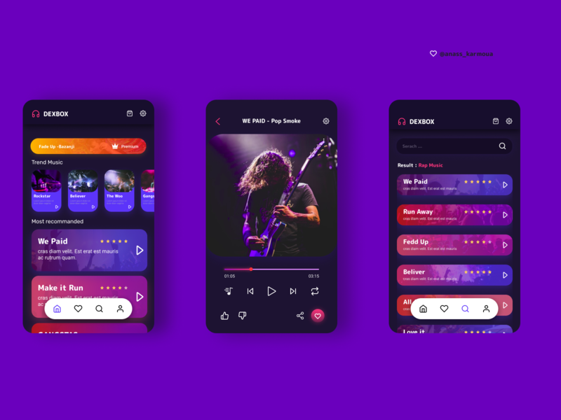 Music App  with a nice UI and UX icon mockup designs web website dailyui app design mobile app mobile ui ux illustration uidesign ui mobile graphic design design app animation