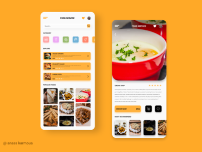 Asimple UI /UX for a Food App ❤️❤️ application designer uiux design uiux designer uiuxdesigner uiuxdesign ui design uiux dailyui app design ux app uidesign ui mobile graphic design design animation