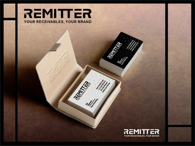 Remitter design branding logo