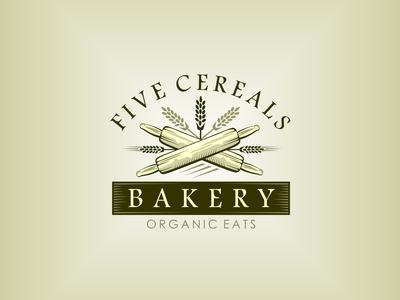 BAKERY vector design branding logo