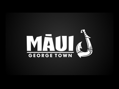 Maui - George town vector design logo