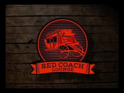 Red Coach vector branding design logo