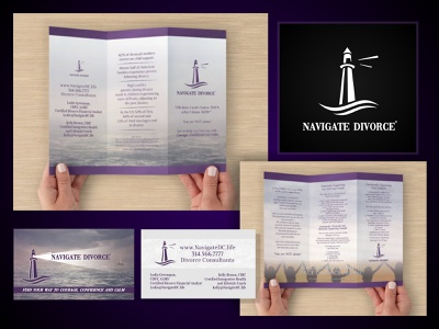 Navigate Divorce vector branding design logo