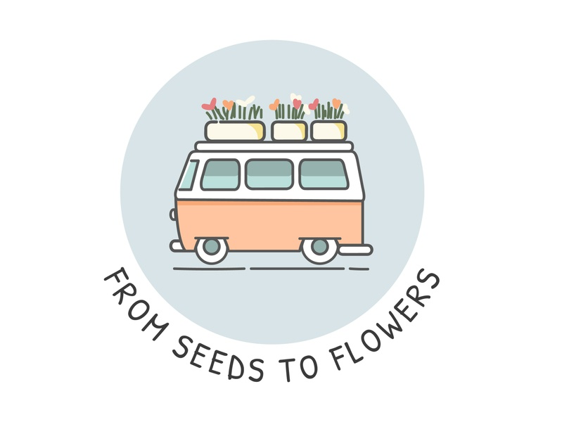 From Seeds To Flowers Logo small business logo branding