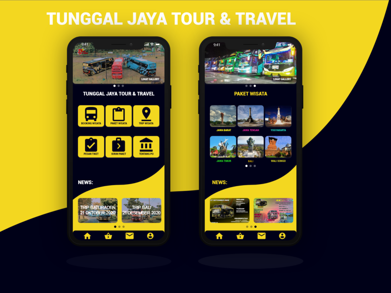 UI Design Untuk Aplikasi Android PO BUS branding design app ui illustration onlinetikceting uidesigner uidesign