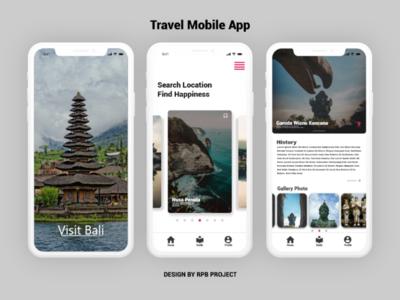Travel Mobile App web ux uidesigner uidesign ui minimal design branding app