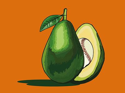 AvocadoBall illustrator graphic design art flat minimal branding vector logo design illustration