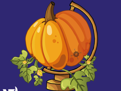 Pumpkin Map vector minimal logo illustrator illustration graphic design flat design branding art