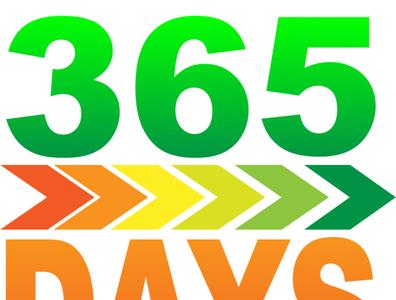 365 days Logo Design illustrator flat minimal vector branding logo design illustration