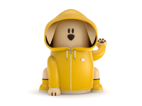 Maneki-Neko Dog 3D - Raincoat