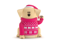 Maneki-Neko Dog 3D - Christmas