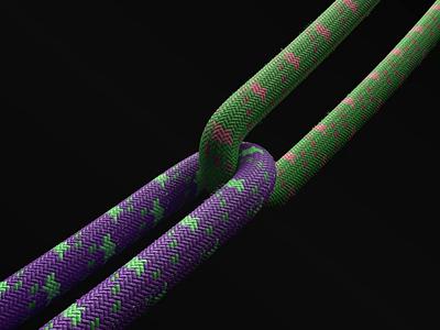 3D Rope dinamic rope design website web ux ui branding illustration motion design animation 3d animation 3d