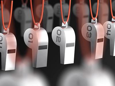 3D - Whistle illustration design ux ui branding motion design animation 3d animation 3d art 3d