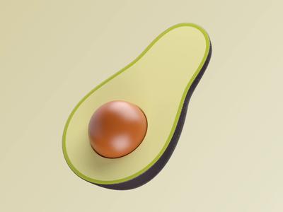 3D animation - Avocado emoji loop avacado branding characters illustration icon motion design 3d animation studio animation 3d