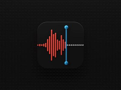 Voice Memos Icon big sur motion 3d animation icon animation ios 3d