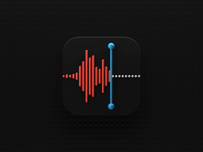 Voice Memos Icon big sur motion 3d animation icon animation ios 3d