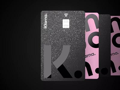 Klarna Card ux ui card animation credit finance productdesign bank card branding motion design animation 3d animation 3d