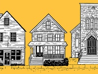 House Illustrations on book cover
