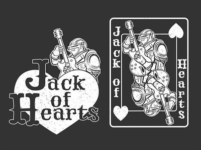 Jack of Hearts Band Merch bandmerch bands illustration logo