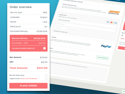Payment Page order overview order peach ux design ux ecommerce payment page payment