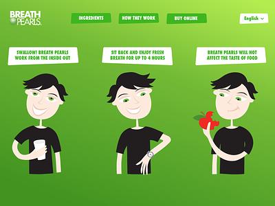 Breath Pearls website css animation green website design ux design
