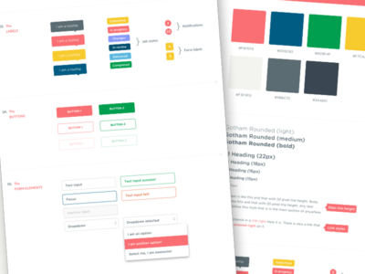 Style Guide colors web style css3 spec style guide
