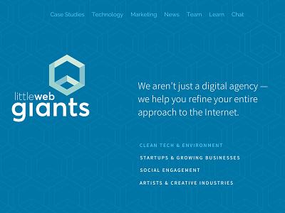 Little Web Giants Re-design landingpage website redesign