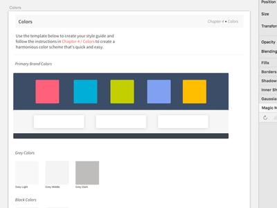 Color Guide sketch guide book style guide color palette colors design system