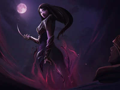 Shadow and the Moon splash art fantasy art digital art fantasyart digital panting characterdesign character illustration