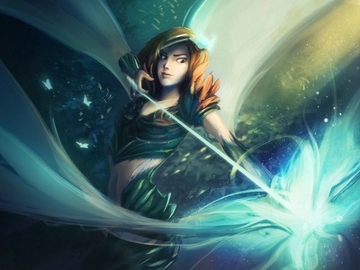 Emerald air element splash art fantasy art digital art illustration fantasyart digital panting characterdesign character