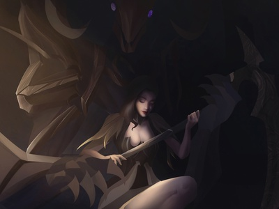 Summoner summoner splash art fantasy art digital art illustration fantasyart digital panting characterdesign character