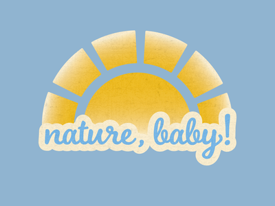 Nature Baby Graphic Design logo icon vector graphic design typography illustration illustrator design