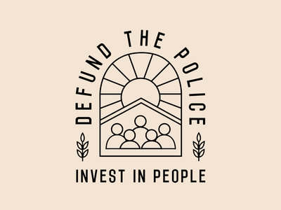Logo for the Defund the Police, Invest in People Coalition logo design branding logos logo illustration
