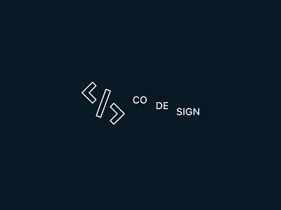 CoDeSign minimalism style logo