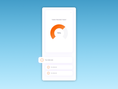 Task Tracking app ui app design to do list task tracking app