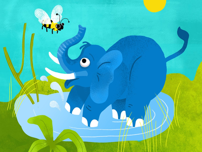 Elephants are afraid of bees!