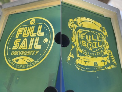 Live screen printing designs enemy ink full sail