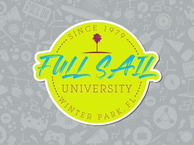 Full Sail University decal 1979 florida fl winter park full sail