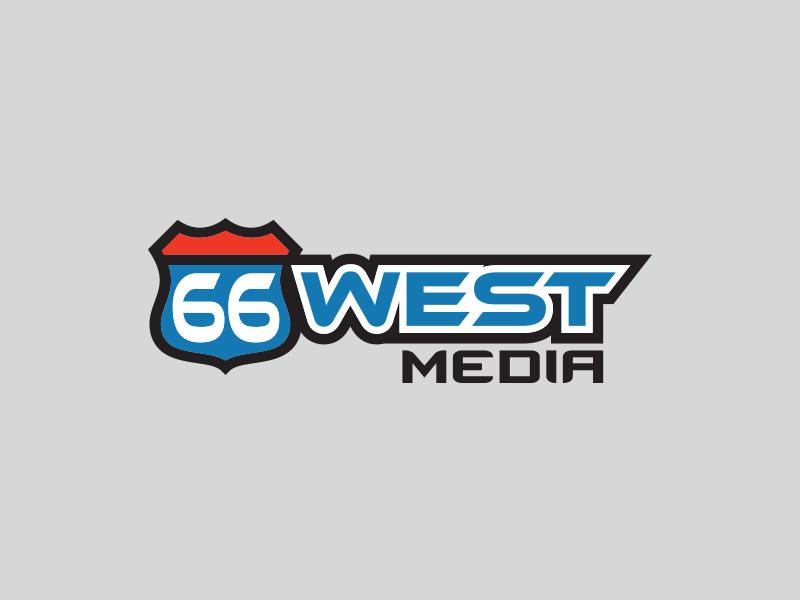 66 West Media logo alternate branding brand logo